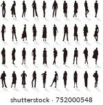silhouette   women's fashion | Shutterstock .eps vector #752000548