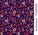 seamless paisley pattern | Shutterstock . vector #752002003