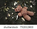 Lost Teddy Bear Laying On The...