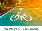 dedicated bicycle lanes ... | Shutterstock . vector #752013700