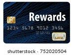 a rewards credit card is... | Shutterstock . vector #752020504