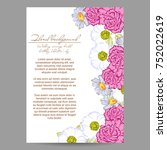 invitation with floral... | Shutterstock . vector #752022619