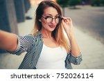 half length portrait of young... | Shutterstock . vector #752026114