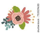 illustration of flower on white ... | Shutterstock . vector #752029630
