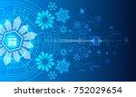 merry christmas  vector... | Shutterstock .eps vector #752029654