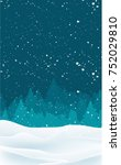 blue christmas background with... | Shutterstock .eps vector #752029810