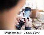chiang mai  thailand   nov 10... | Shutterstock . vector #752031190