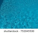 pool water.water texture. | Shutterstock . vector #752045530