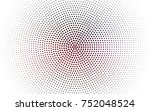 dark red vector pattern of... | Shutterstock .eps vector #752048524