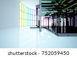 abstract white and colored... | Shutterstock . vector #752059450