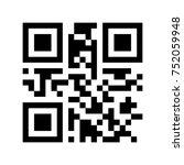 promotional qr code   black... | Shutterstock .eps vector #752059948