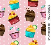 vector and illustration pattern ... | Shutterstock .eps vector #752060038