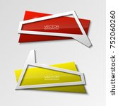 abstract banner set. the... | Shutterstock .eps vector #752060260