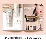 Cosmetic Magazine Template ...
