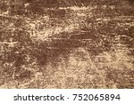 antique old brown peeling and...   Shutterstock . vector #752065894