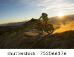biking in the south tyrol... | Shutterstock . vector #752066176