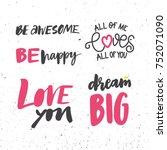 love lettering phrases | Shutterstock .eps vector #752071090