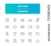 7. line icons set. shopping...