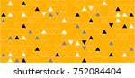 hipster bright patterns.... | Shutterstock .eps vector #752084404
