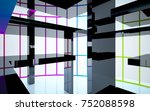 abstract white and colored... | Shutterstock . vector #752088598