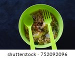 Top View Instant Noodle In A...