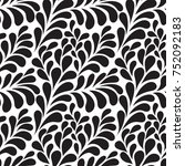 vector ornamental pattern | Shutterstock .eps vector #752092183