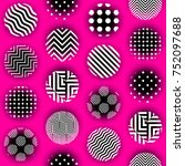 seamless background. polka dot... | Shutterstock .eps vector #752097688