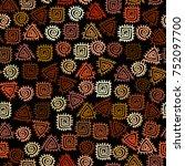 ethnic boho seamless pattern in ... | Shutterstock .eps vector #752097700