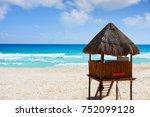 playa marlin in cancun beach at ... | Shutterstock . vector #752099128
