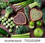 mixed vegetables  legumes for... | Shutterstock . vector #752101009