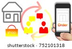 smartphone show order and... | Shutterstock . vector #752101318