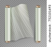 roll of wrapping stretch film... | Shutterstock .eps vector #752101693