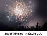 people celebrating new year's... | Shutterstock . vector #752105860