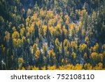 magic winter and autumn forest. ... | Shutterstock . vector #752108110