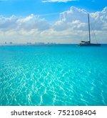 cancun hotel zone from isla... | Shutterstock . vector #752108404