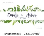 wedding invite  invitation ... | Shutterstock .eps vector #752108989