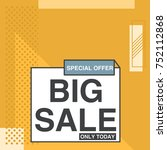 big sale memphis style banner... | Shutterstock .eps vector #752112868