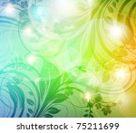 abstract colorful bright spring ...