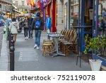 paris  france  on october 27 ...   Shutterstock . vector #752119078