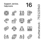 support  service  help simple... | Shutterstock .eps vector #752123563