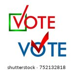 voting symbols design. template ... | Shutterstock . vector #752132818