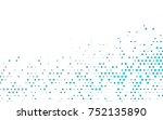 light blue vector red pattern... | Shutterstock .eps vector #752135890
