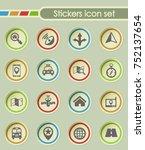 navigation round sticker icons... | Shutterstock .eps vector #752137654
