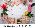 Many Christmas Gifts On Stone...