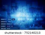 2d rendering stock market...   Shutterstock . vector #752140213