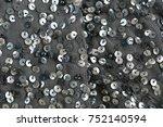 sequins pattern metallic... | Shutterstock . vector #752140594