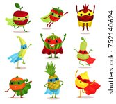 vector illustration set of... | Shutterstock .eps vector #752140624