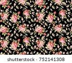 bouquet shade rose flower... | Shutterstock . vector #752141308