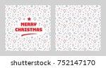 merry christmas lettering... | Shutterstock . vector #752147170