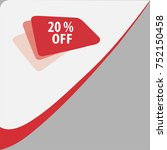 20  off sale discount banner.... | Shutterstock .eps vector #752150458